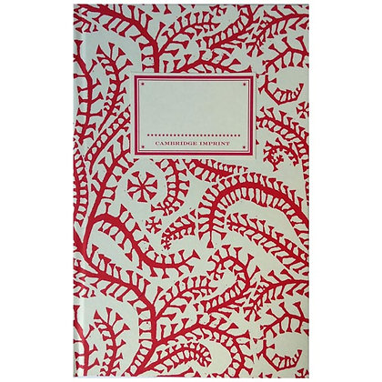 Hardback Notebook with Red Seaweed Paisley Design