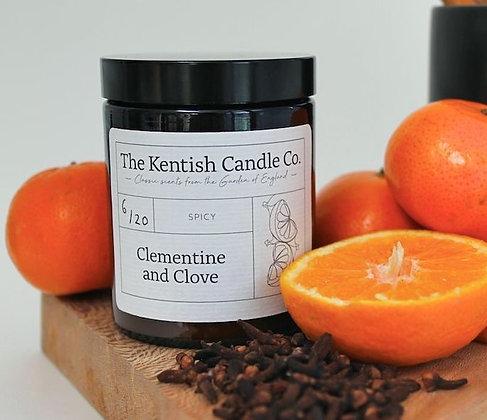 Clementine and Clove Candle from The Kentish Candle Company