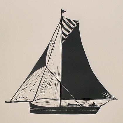 """""""Oyster Smack"""" Linocut Print by Jo Oakley"""