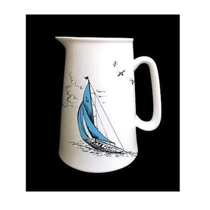 """""""Sail Away"""" Jug with Blue Sail Boats"""