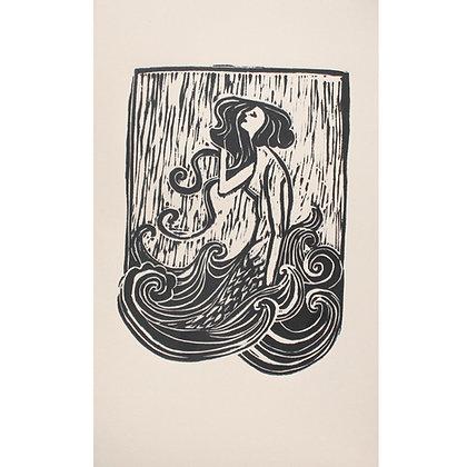 """""""Pearl"""" Linocut Print by Jo Oakley"""