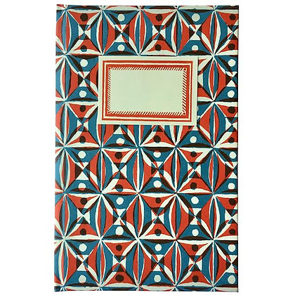 Hardback Notebook Kaleidoscope Red and Blue