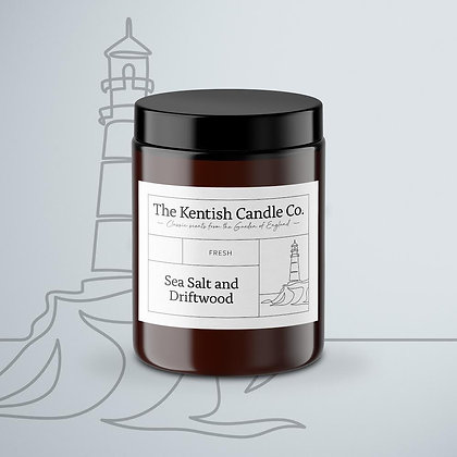 Sea Salt and Driftwood Candle from The Kentish Candle Company