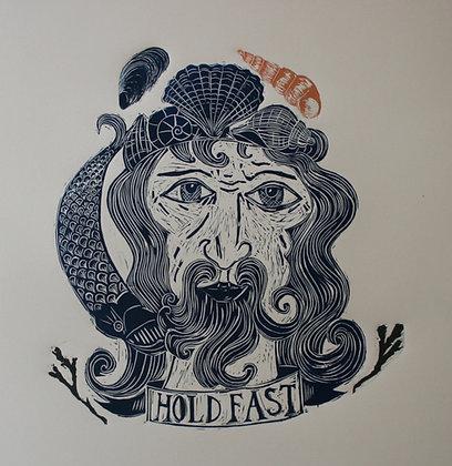 """""""Hold Fast"""" Linocut Print by Jo Oakley"""
