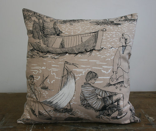 Fishermen Cushion from Nice Work Vintage