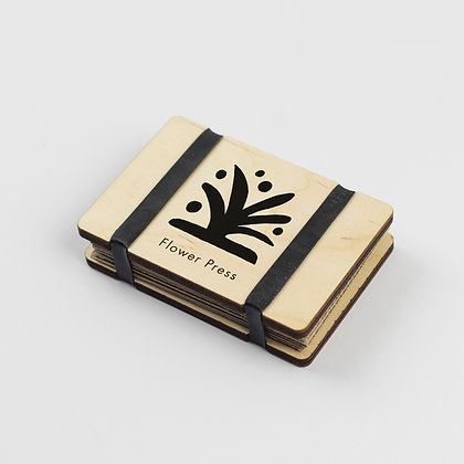 Pocket Flower Press with Abstract  Design