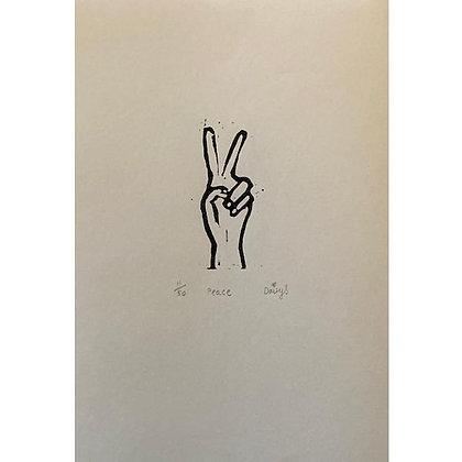 """""""Peace II"""" Linocut Print by Daisy Oakley"""