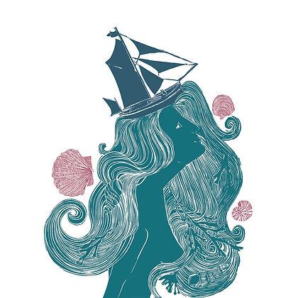 """""""She Wears The Crown"""" - Print by Jo Oakley"""