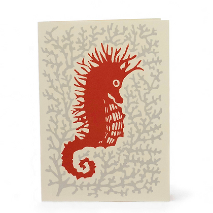 Pack of 10 Seahorse Cards