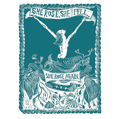 """She Fell, She Rose Again"" in Green"