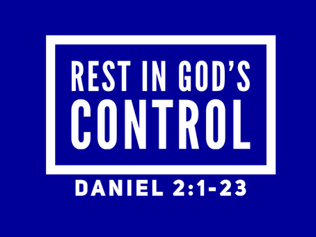 Rest in God's Control