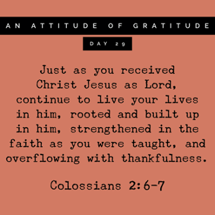 Grateful for Our Security in Christ