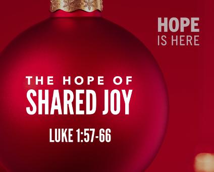 The Hope of Shared Joy