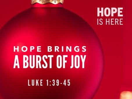 Hope Brings a Burst of Joy