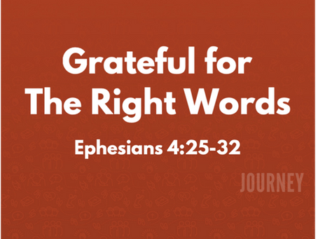 Grateful for the Right Words