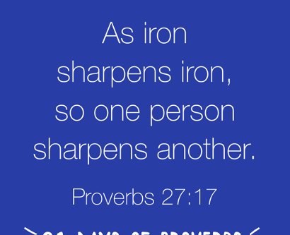 Who Sharpens Your Life?