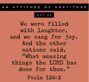 Grateful for Laughter