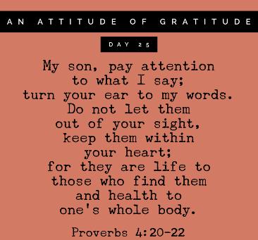 Thanking God for Good Health (yep, health)