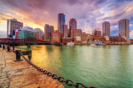 Boston, Massachusetts, USA downtown skyl