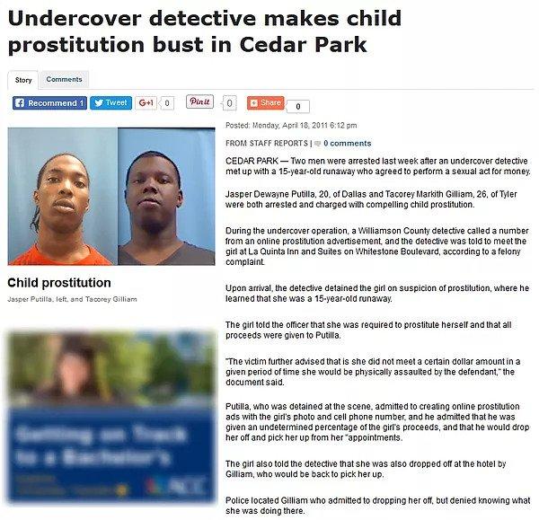 Child Prostitution Bust
