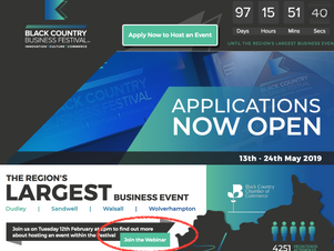 Webinar to help with Business Festival event applications