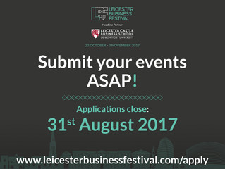 Leicester Business Festival: last few days to submit events