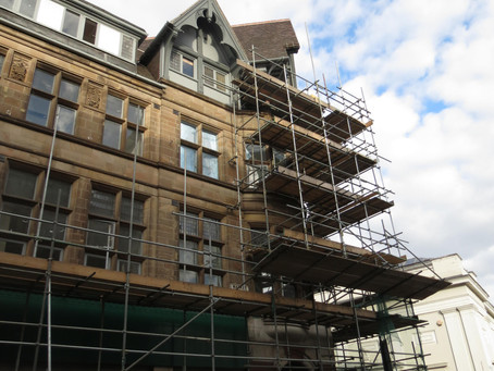 Excitement builds as The Gresham scaffolding starts to come down