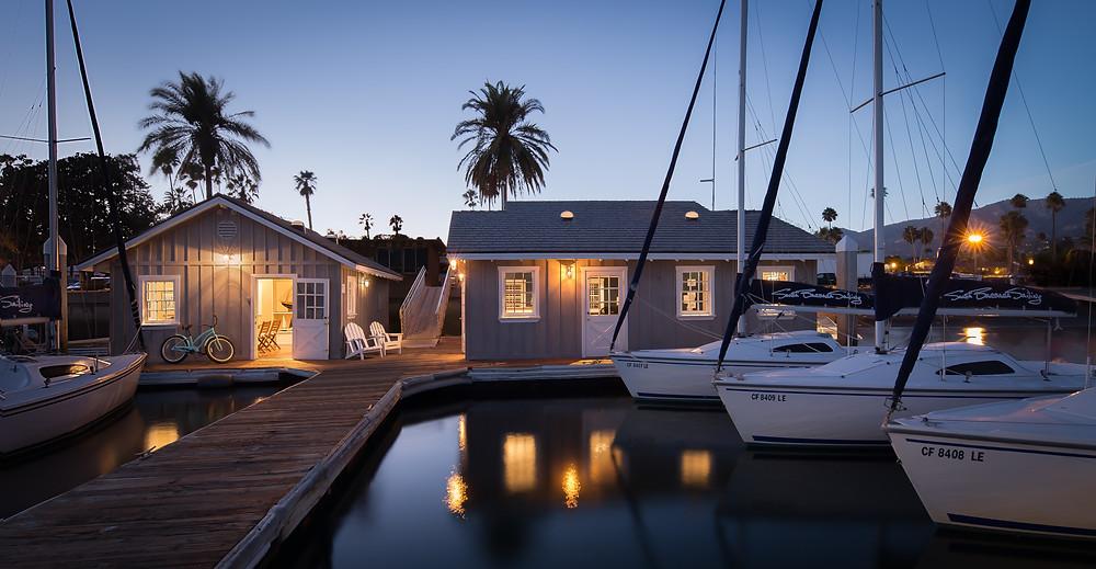 Santa Barbara Sailing Center at dusk