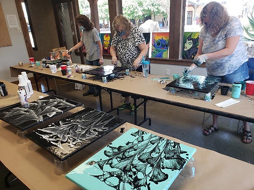 Sat. afternoon Acrylic Pour & Resin with James Cahalan for Adults