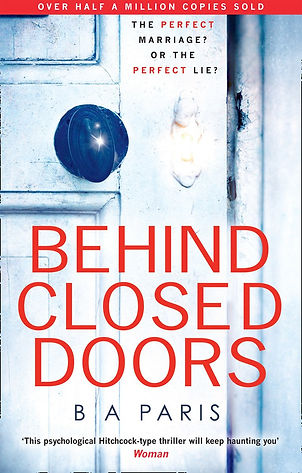 B.A. PARIS author of BEHIND CLOSED DOORS is interviewed by Barbara Copperthwaite