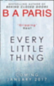 BA PARIS, author of EVERY LITTLE THING, is interviewed by Barbara Copperthwaite