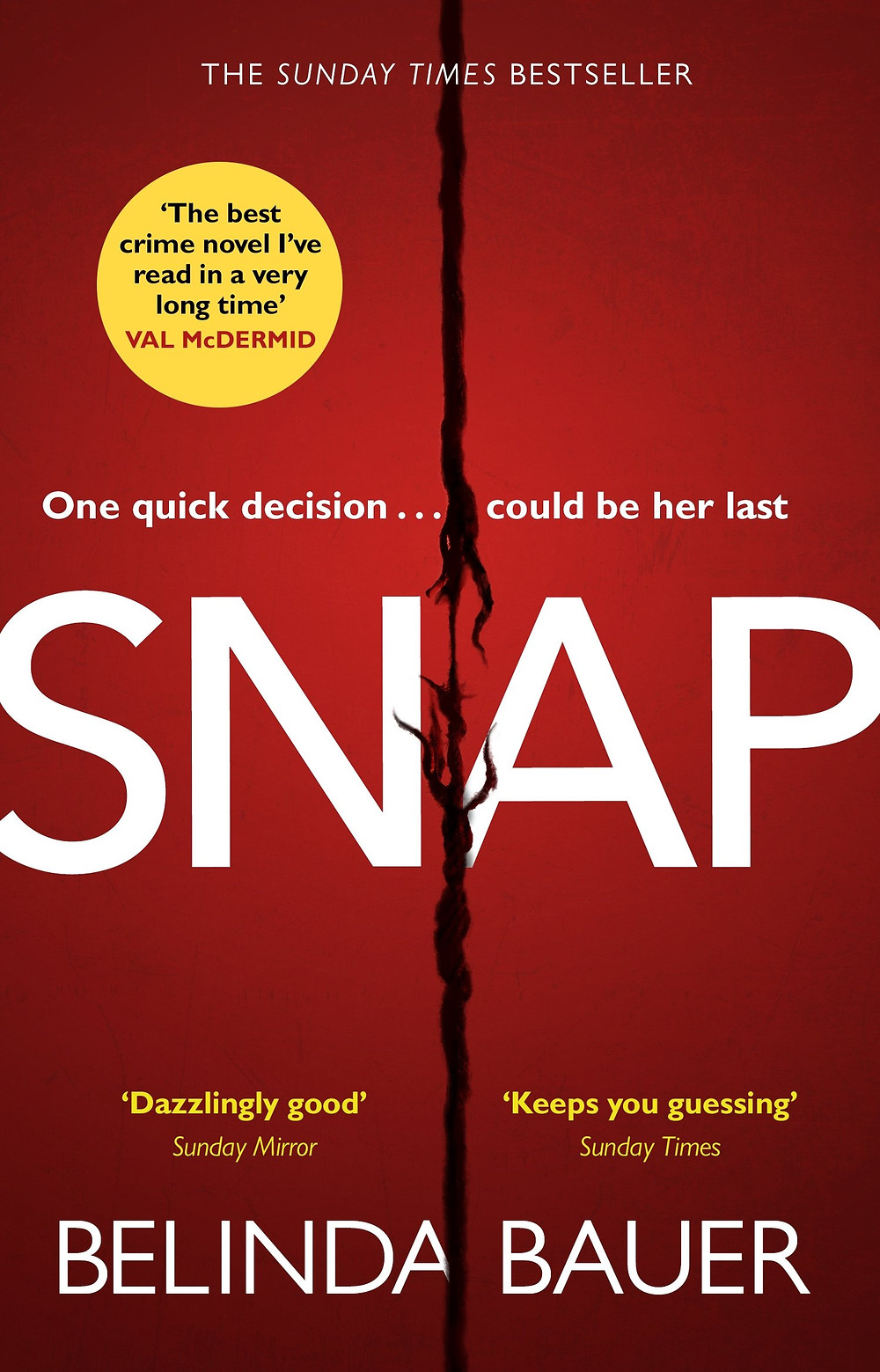 Snap, by Belinda Bauer. Review by Barbara Copperthwaite