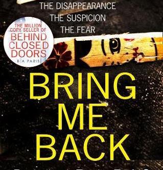 Review: BRING ME BACK, B.A. Paris