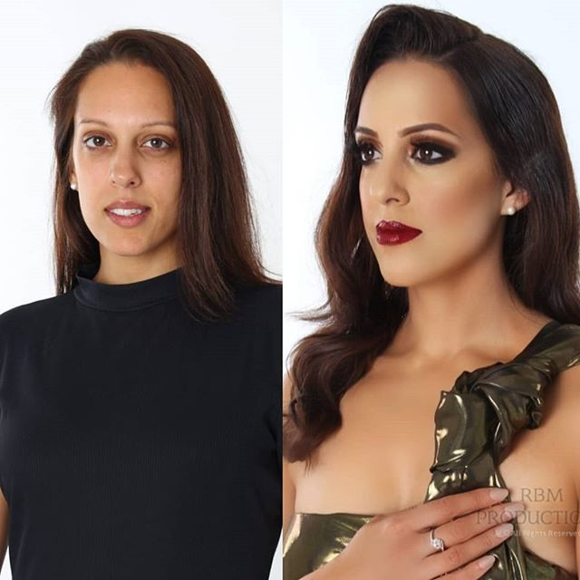 Before and after of my gorgeous model _r