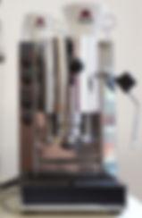 Spinel ESSE Pinocchio Espressomaschine mit Gehäuse aus Edelstahl und Tassenhalter