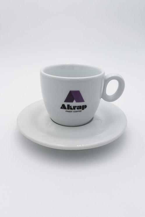 Cappuccinotasse Akrap Logo
