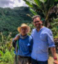 Kaffee Plantage Brasilien mi Bauern und Hernan Villamizar