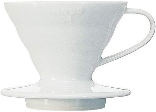 Hario VDC-01W V60 Kaffeefilterhalter | Porzellan |Farbe weiß
