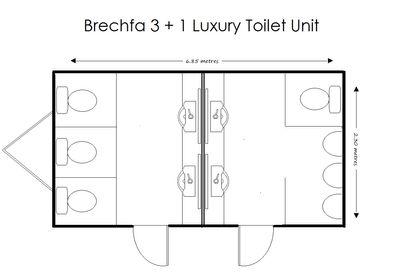 Brechfa 3+1 Floorplan