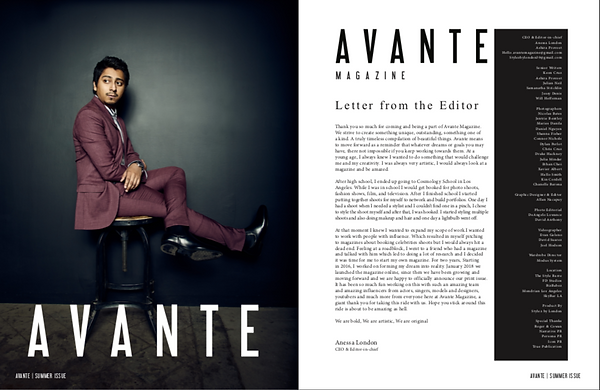 Tony Revolori - Avante Magazine - Summer 2019 Issue