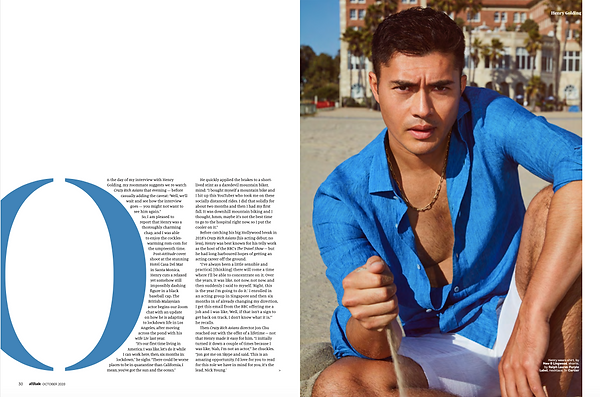 Attitude Magazine - Oct. '20 - Henry Golding