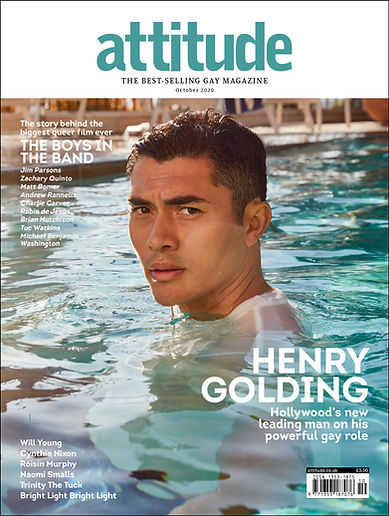 Attitude Magazine - Oct. 2020 cover - Henry Golding