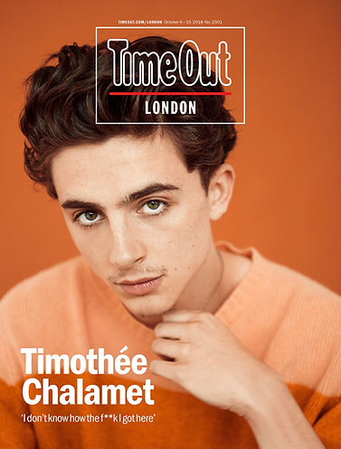 Timothée Chalamet - Time Out London Magazine, Oct. 2018 - Shot by Austin Hargrave