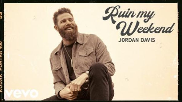 Jordan Davis - 'Ruin my Weekend' single artwork