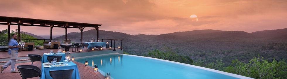 phinda mountain lodge pool terrace