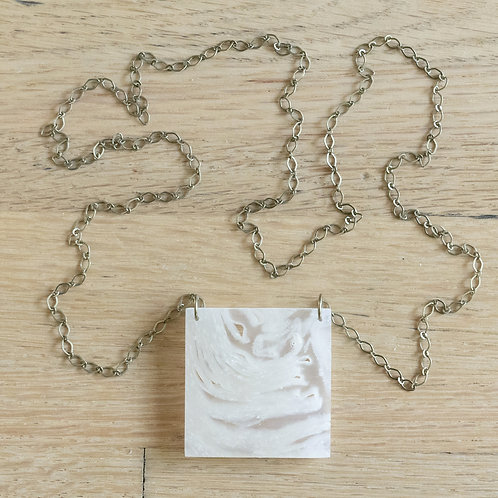 Toilet Paper Statement Square Brass Long Short Chain