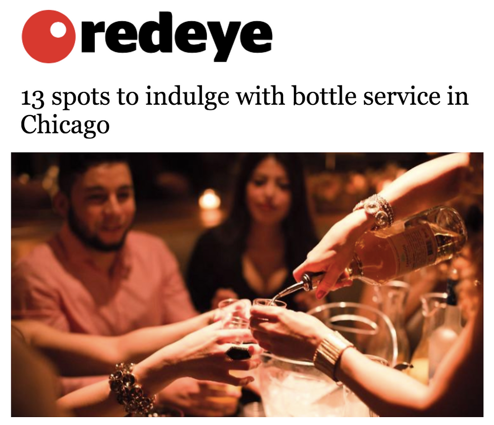 Redeye. Disco Chicago 13 spots to indulge with bottle service in Chicago
