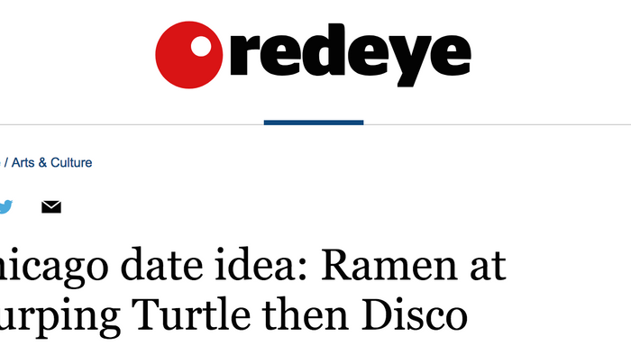 Chicago date idea: Ramen at Slurping Turtle then Disco