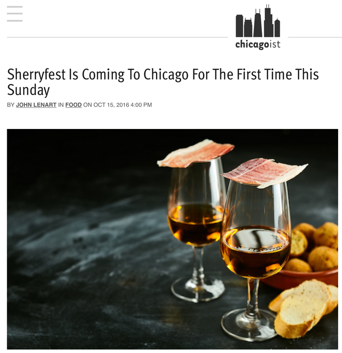 Sherryfest Is Coming To Chicago For The First Time This Sunday