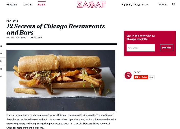 12 Secrets of Chicago Restaurants and Bars